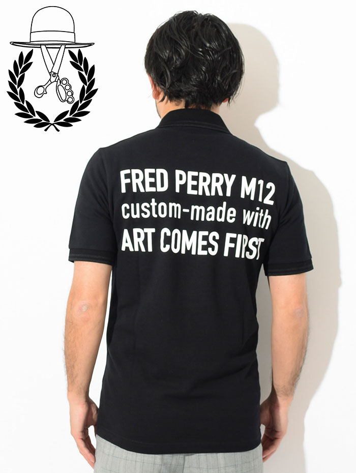 FRED PERRYフレッドペリーのポロシャツ ART COMES FIRST Embroidered Fred Perry Polo Shirt04