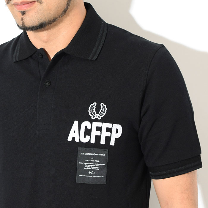 FRED PERRYフレッドペリーのポロシャツ ART COMES FIRST Embroidered Fred Perry Polo Shirt05