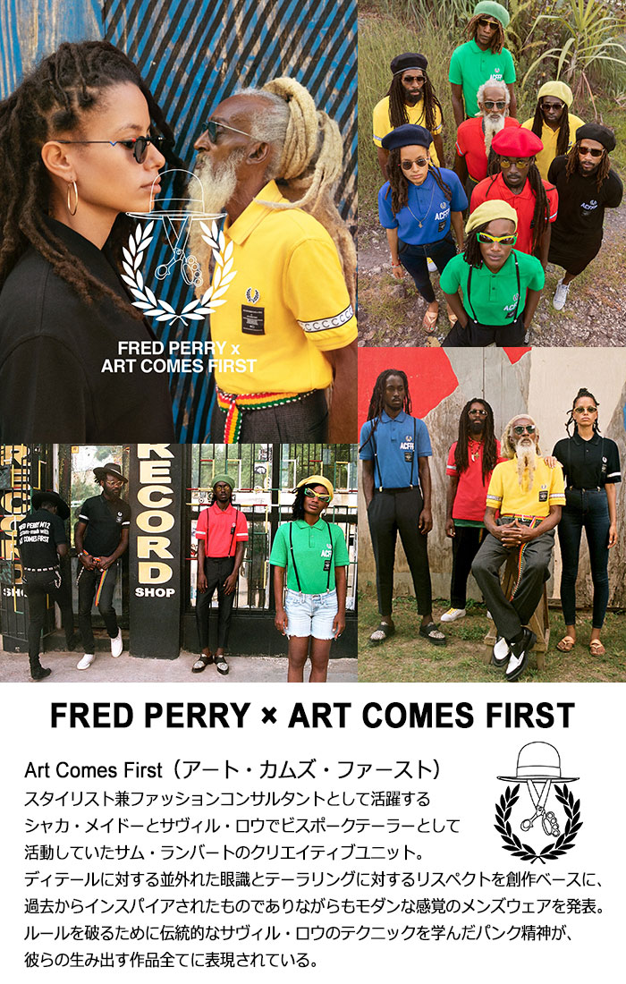 FRED PERRYフレッドペリーのポロシャツ ART COMES FIRST Embroidered Fred Perry Polo Shirt06