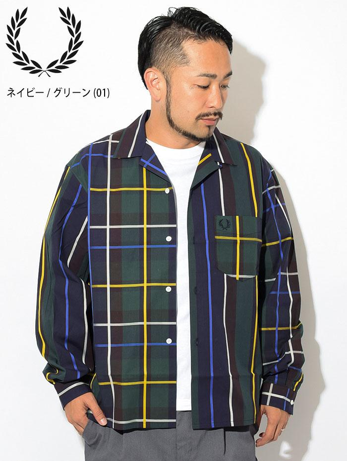 FRED PERRYフレッドペリーのシャツ Stripe Bowling Shirt02