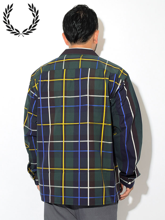 FRED PERRYフレッドペリーのシャツ Stripe Bowling Shirt03