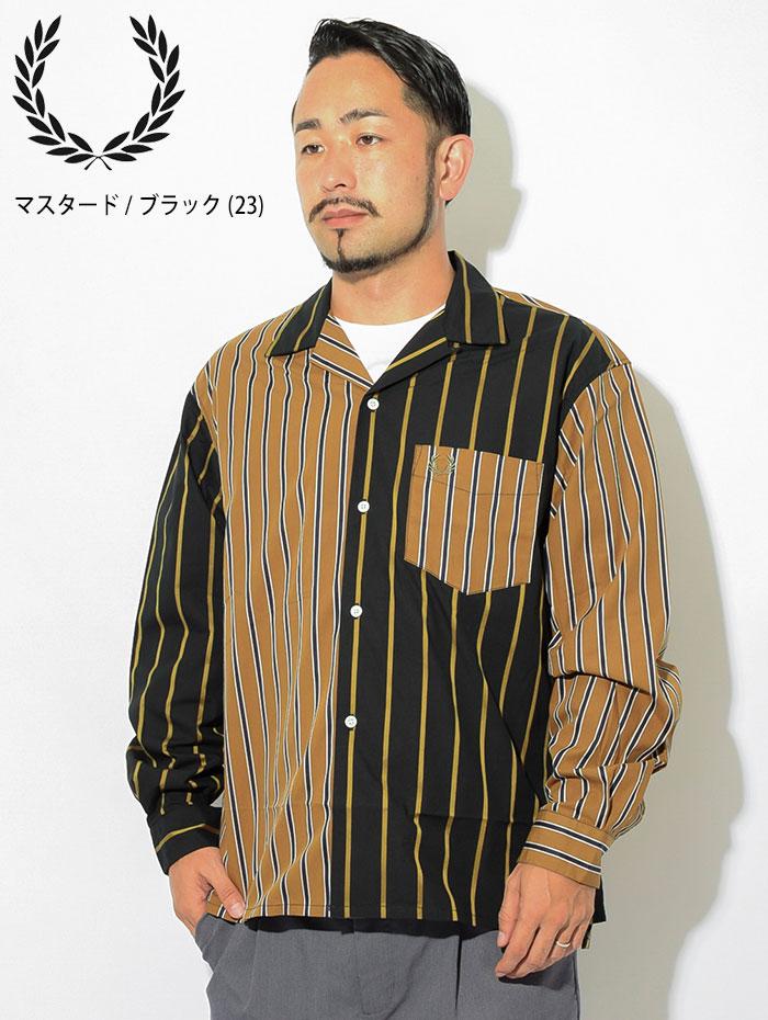 FRED PERRYフレッドペリーのシャツ Stripe Bowling Shirt04