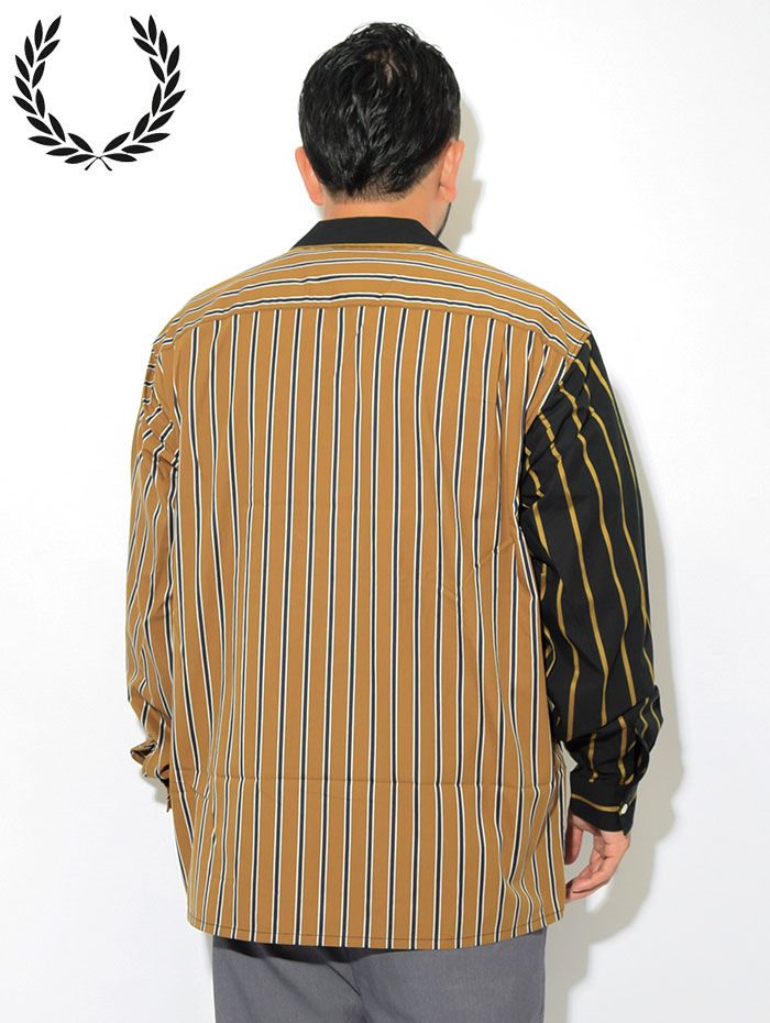 FRED PERRYフレッドペリーのシャツ Stripe Bowling Shirt05
