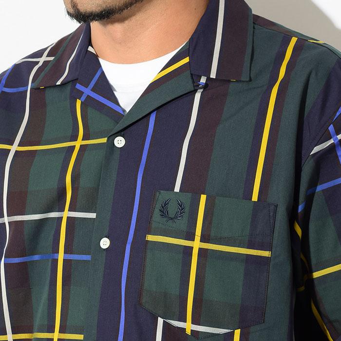 FRED PERRYフレッドペリーのシャツ Stripe Bowling Shirt06