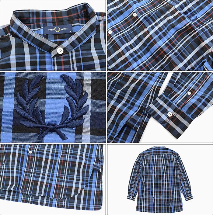 FRED PERRYフレッドペリーのシャツ Band Collar Oversized Shirt07