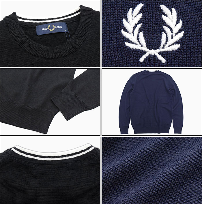FRED PERRYフレッドペリーのセーター Classic Merino Crew Neck Sweater04