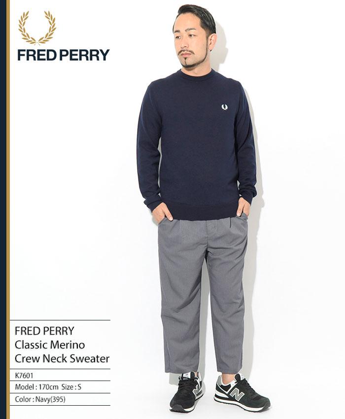 FRED PERRYフレッドペリーのセーター Classic Merino Crew Neck Sweater01