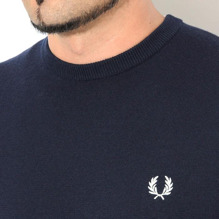 FRED PERRYフレッドペリーのセーター Classic Merino Crew Neck Sweater03