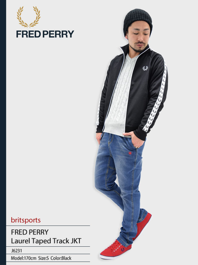 1bcdd358e Fred Perry FRED PERRY Laurel tape track jacket Brit sport men for men (fred  perry FREDPERRY J6231 Laurel Taped Track JKT britsports Jersey outer ...