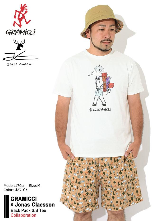 GRAMICCIグラミチのTシャツ Jonas Claesson Back Pack01
