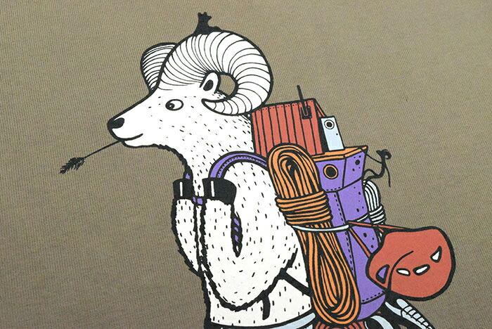 GRAMICCIグラミチのTシャツ Jonas Claesson Back Pack08