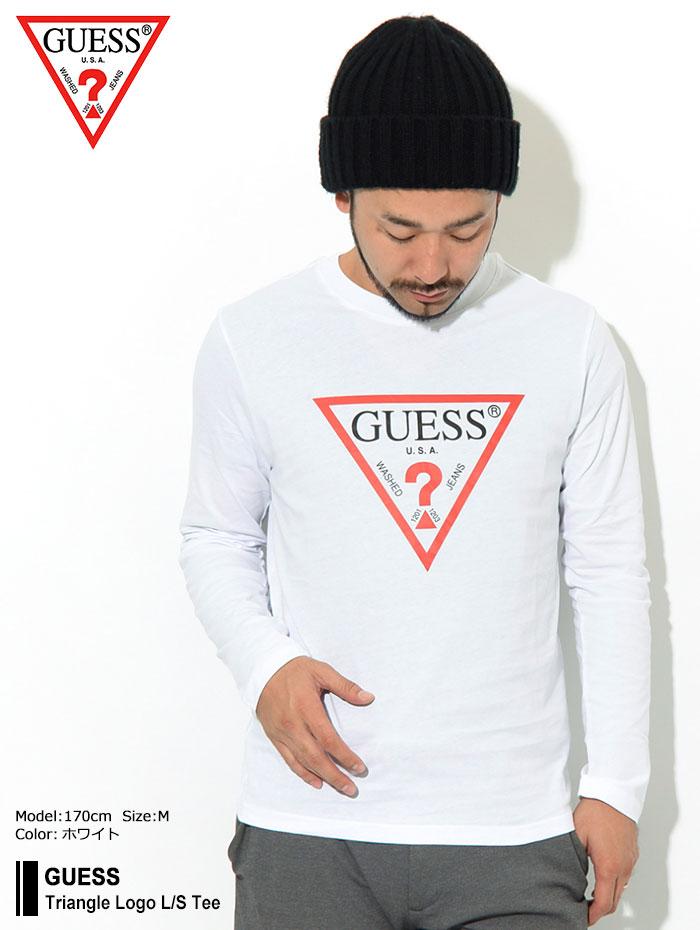 GUESSゲスのTシャツ Triangle Logo01