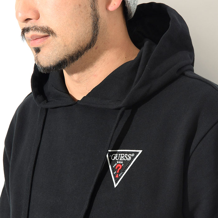 GUESSゲスのパーカー Felt Logo Patch Pullover Hoodie02