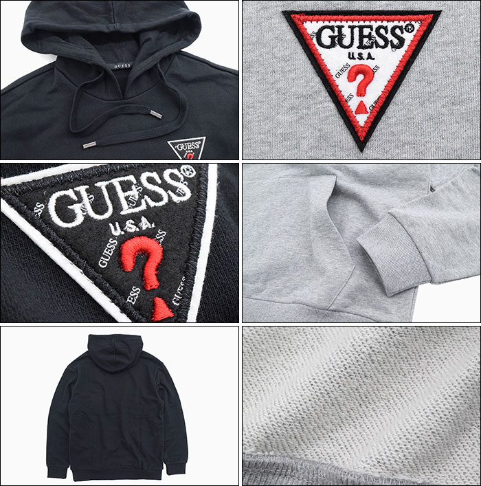 GUESSゲスのパーカー Felt Logo Patch Pullover Hoodie03