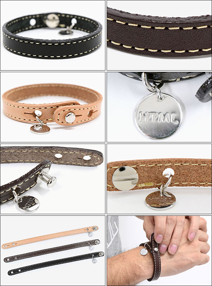 HTML ZERO3エイチティエムエル ゼロスリーのアクセサリー Oswald Leather Bracelet05