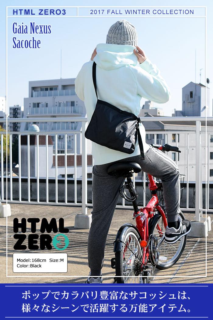 HTML ZERO3エイチティエムエル ゼロスリーのショルダーバッグ Gaia Nexus Sacoche01
