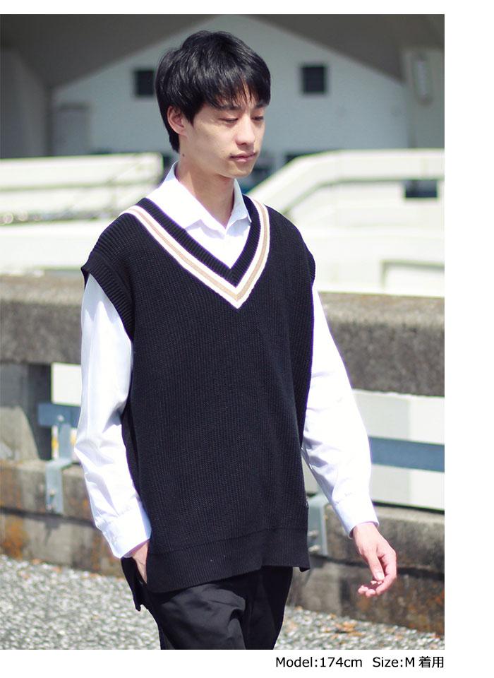HTML ZERO3エイチティエムエル ゼロスリーのベスト Student Chiruden Knit Vest01