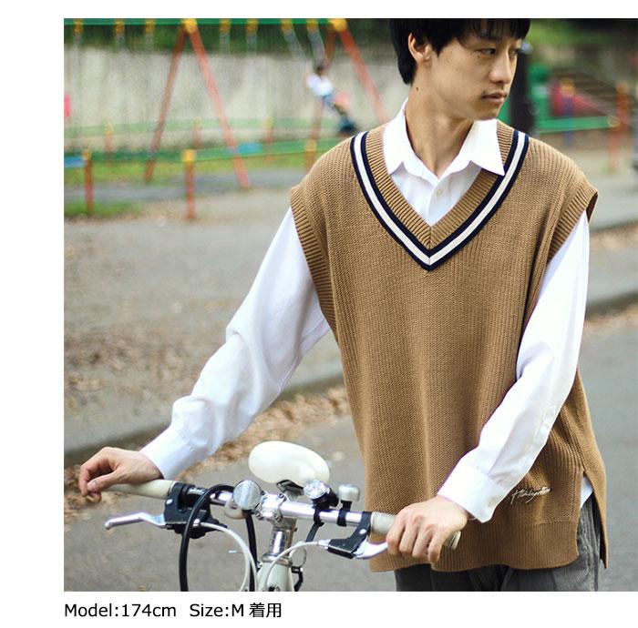 HTML ZERO3エイチティエムエル ゼロスリーのベスト Student Chiruden Knit Vest02