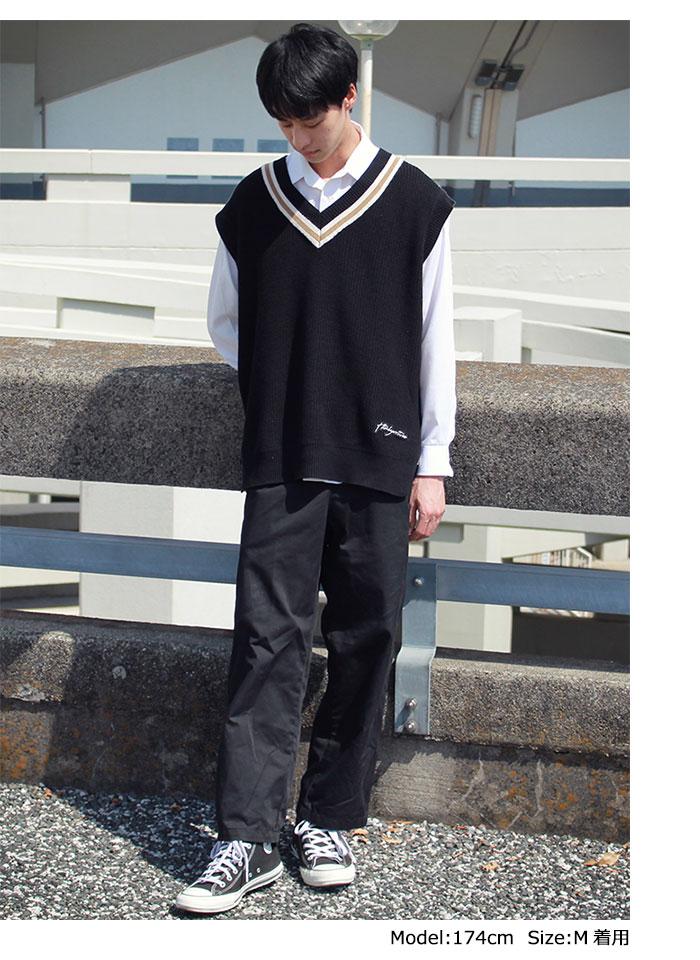 HTML ZERO3エイチティエムエル ゼロスリーのベスト Student Chiruden Knit Vest04