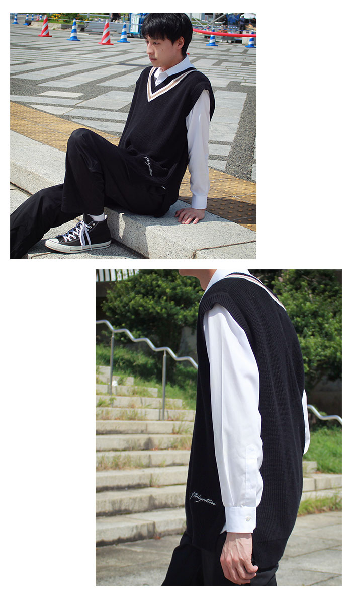 HTML ZERO3エイチティエムエル ゼロスリーのベスト Student Chiruden Knit Vest06