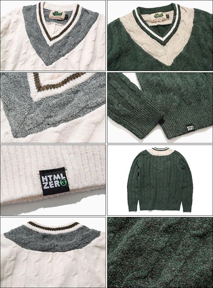 HTML ZERO3エイチティエムエル ゼロスリーのセーター Student Chiruden Knit Sweater11