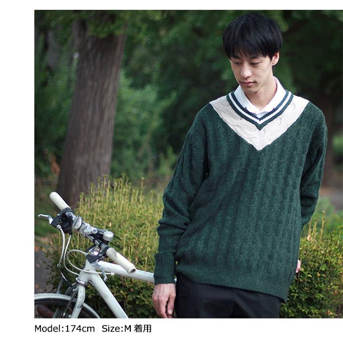 HTML ZERO3エイチティエムエル ゼロスリーのセーター Student Chiruden Knit Sweater02