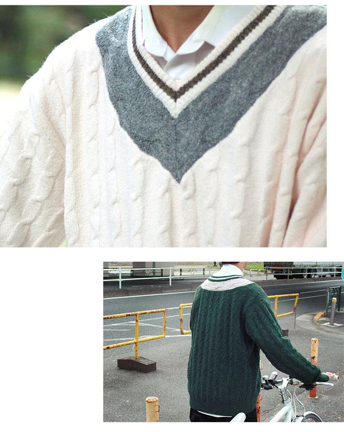 HTML ZERO3エイチティエムエル ゼロスリーのセーター Student Chiruden Knit Sweater03