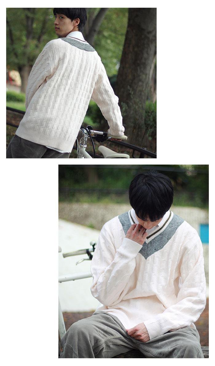 HTML ZERO3エイチティエムエル ゼロスリーのセーター Student Chiruden Knit Sweater06