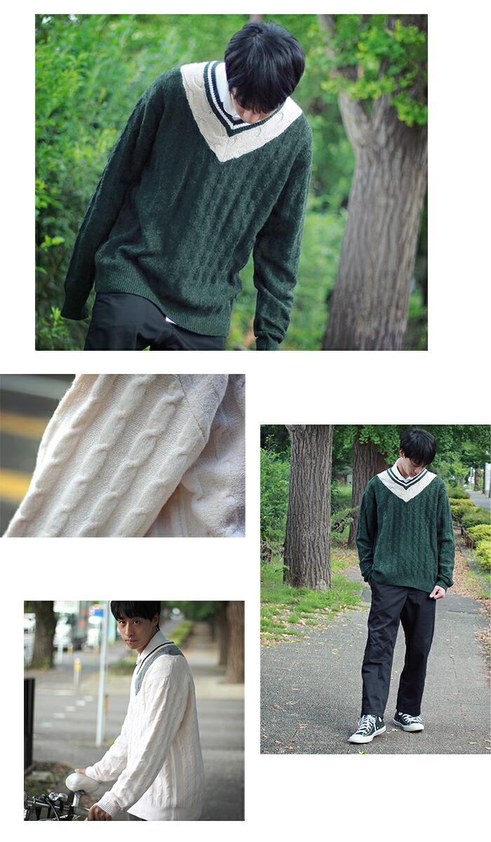 HTML ZERO3エイチティエムエル ゼロスリーのセーター Student Chiruden Knit Sweater07