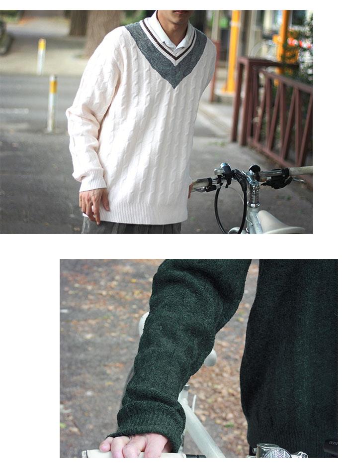HTML ZERO3エイチティエムエル ゼロスリーのセーター Student Chiruden Knit Sweater08