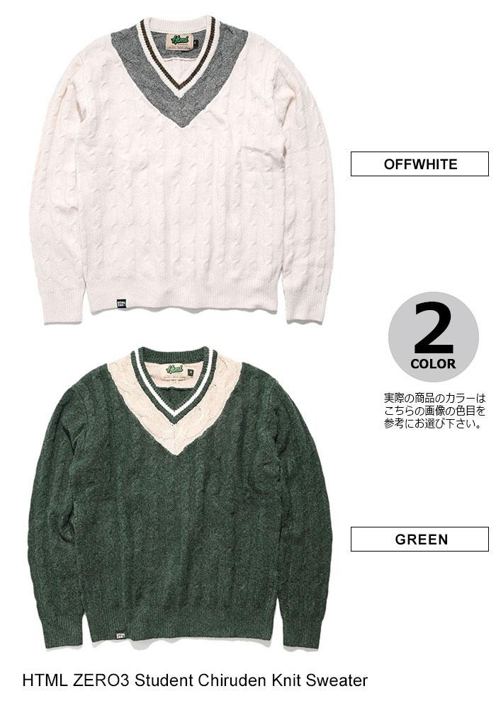 HTML ZERO3エイチティエムエル ゼロスリーのセーター Student Chiruden Knit Sweater09