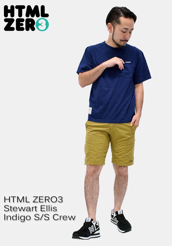 HTML ZERO3エイチティエムエル ゼロスリーのカットソー Stewart Ellis Indigo06
