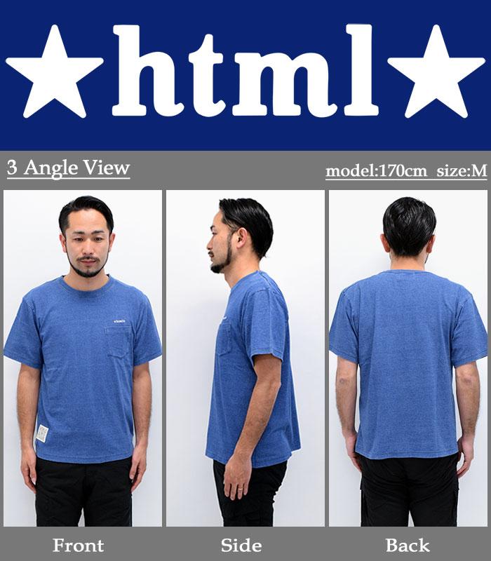 HTML ZERO3エイチティエムエル ゼロスリーのカットソー Stewart Ellis Indigo08