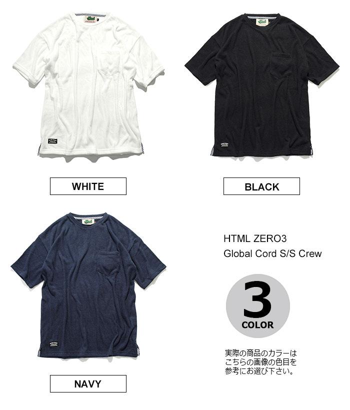 HTML ZERO3エイチティエムエル ゼロスリーのカットソー Global Cord Crew10