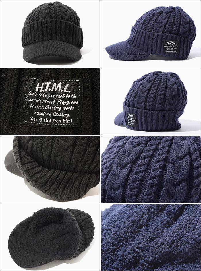 HTML ZERO3エイチティエムエル ゼロスリーのニット帽 Splash Visor Beanie07