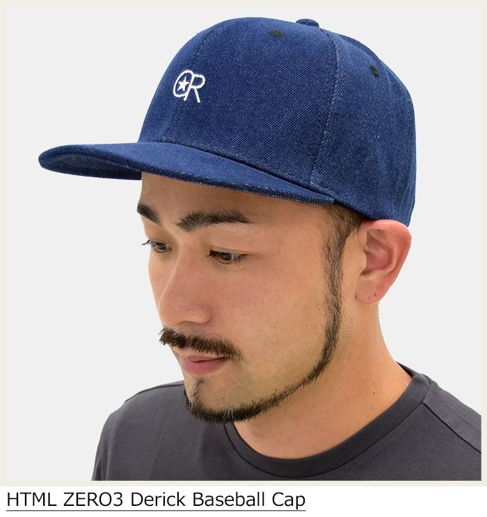 HTML ZERO3エイチティエムエルのキャップ Derick Baseball01