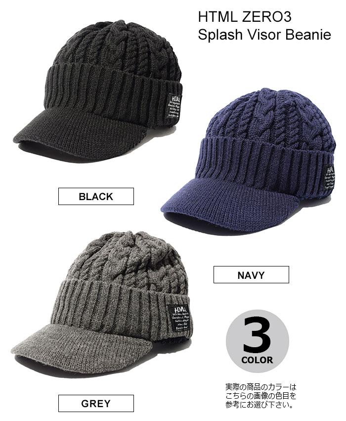 HTML ZERO3エイチティエムエル ゼロスリーのニット帽 Splash Visor Beanie06