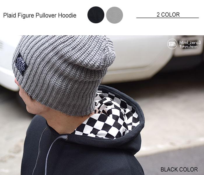 HTML ZERO3エイチティエムエル ゼロスリーのパーカー Plaid Figure Pullover Hoodie06