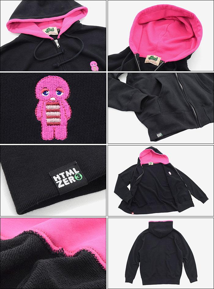 HTML ZERO3エイチティエムエル ゼロスリーのパーカー Pink Gacha Pinky bit Zip Parka09