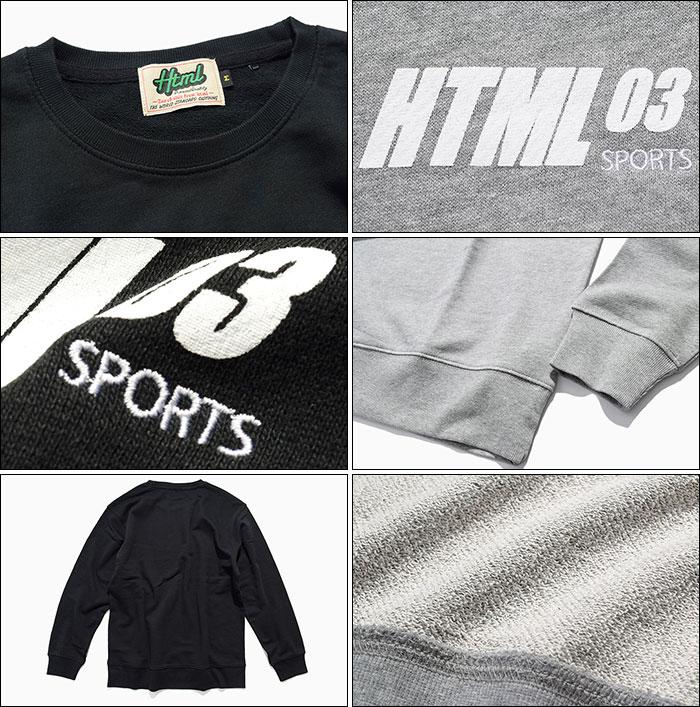 HTML ZERO3エイチティエムエル ゼロスリーのトレーナー Harry Motion Sweat11