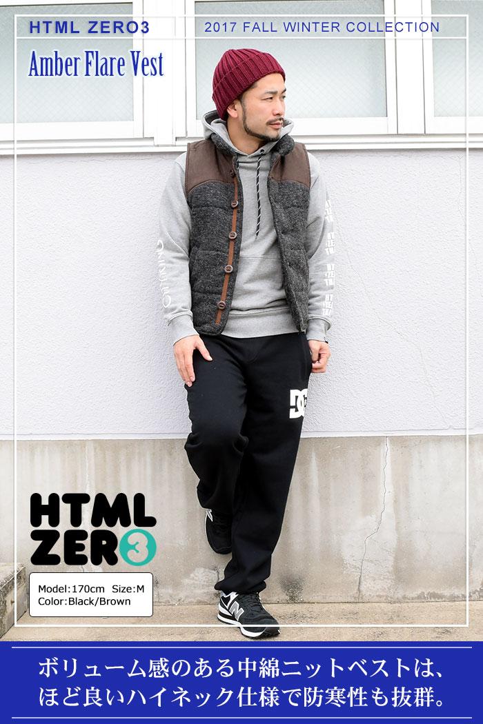 HTML ZERO3エイチティエムエル ゼロスリーのジャケット Amber Flare Vest01