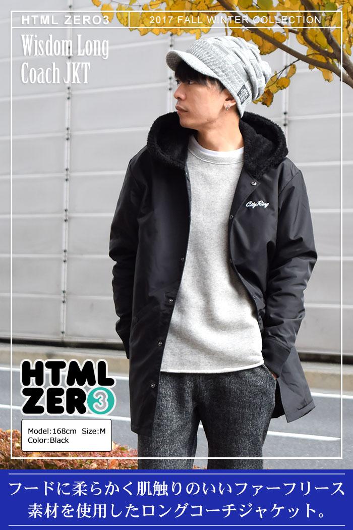 HTML ZERO3エイチティエムエルのジャケット Wisdom Long Coach01