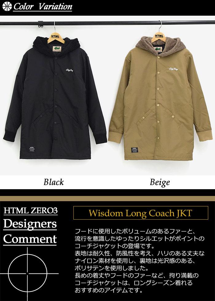HTML ZERO3エイチティエムエルのジャケット Wisdom Long Coach02