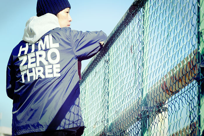 HTML ZERO3エイチティエムエル ゼロスリーのジャケット General Track Coach JKT04