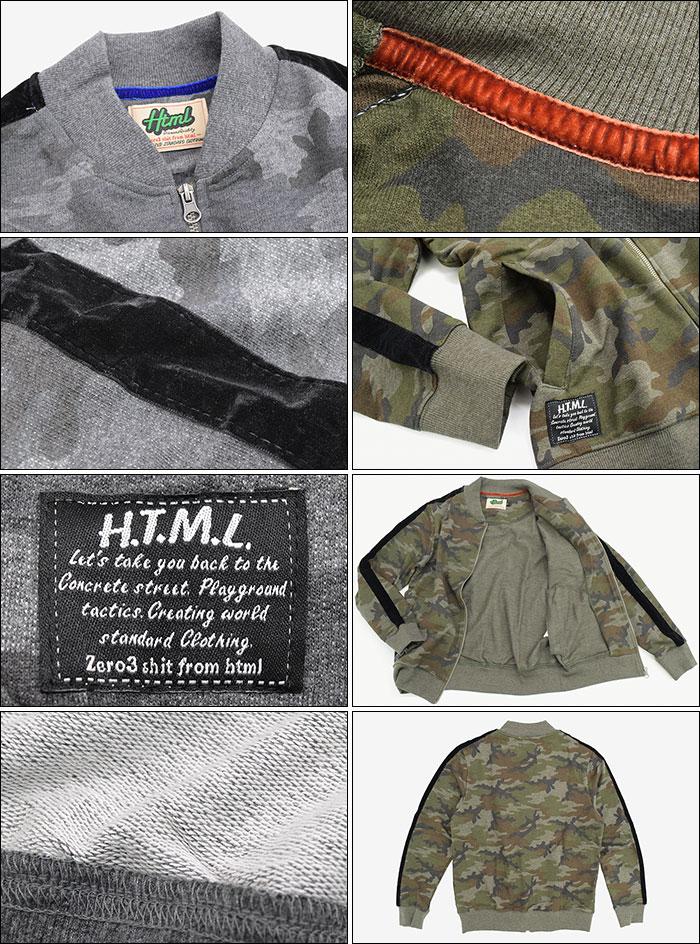 HTML ZERO3エイチティエムエル ゼロスリーのジャケット Bloom Glance Sweat MA-1 10