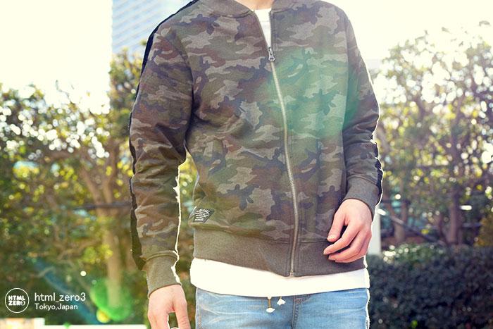 HTML ZERO3エイチティエムエル ゼロスリーのジャケット Bloom Glance Sweat MA-1 01