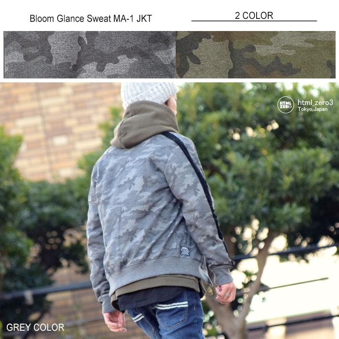 HTML ZERO3エイチティエムエル ゼロスリーのジャケット Bloom Glance Sweat MA-1 05