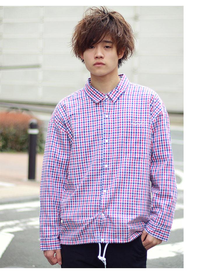 HTML ZERO3エイチティエムエル ゼロスリーのジャケット Delay Hitch Check Shirt01