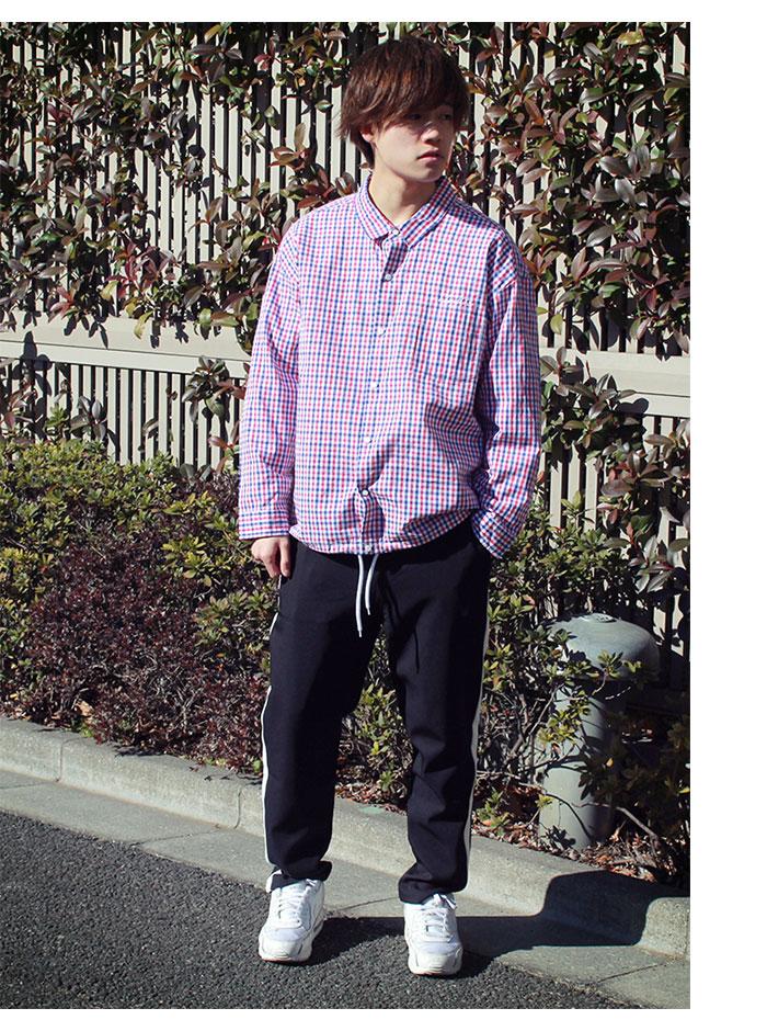 HTML ZERO3エイチティエムエル ゼロスリーのジャケット Delay Hitch Check Shirt04