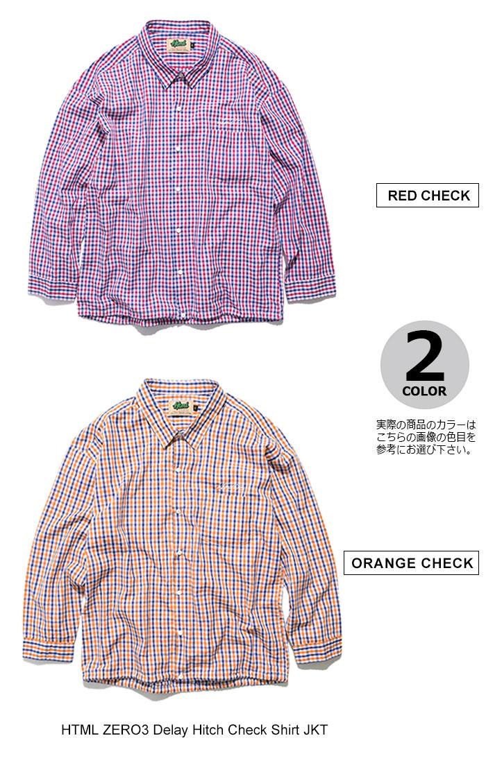 HTML ZERO3エイチティエムエル ゼロスリーのジャケット Delay Hitch Check Shirt09